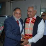 Visit of Haji Muhammad Akram Ansari, Minister of State for Commerce & Textile